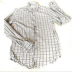 AEO Seriously Soft Gary Plaid Button-Down Shirt-XS